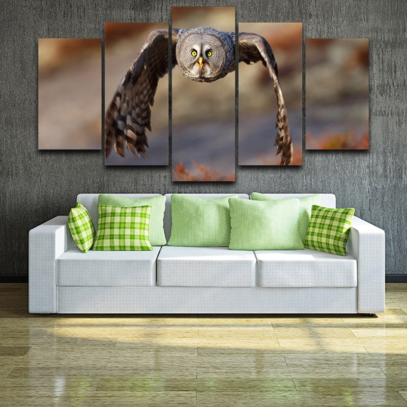 Fly Owl Canvas Wall Art Canvas Art - Home Wall Deco