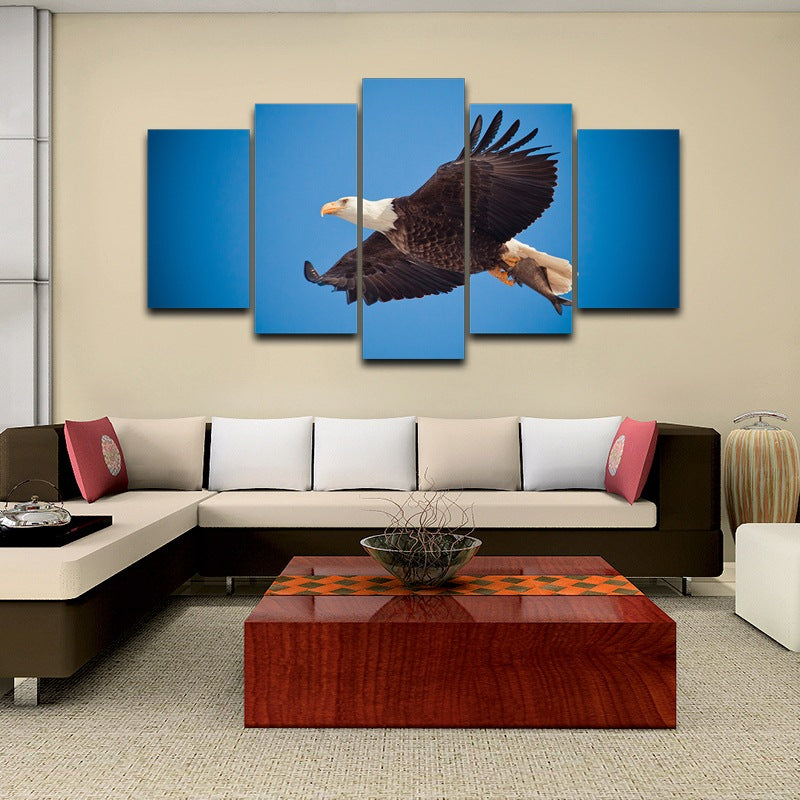 Home Decor wall art picture Flying Eagle Canvas Art - Home Wall Deco