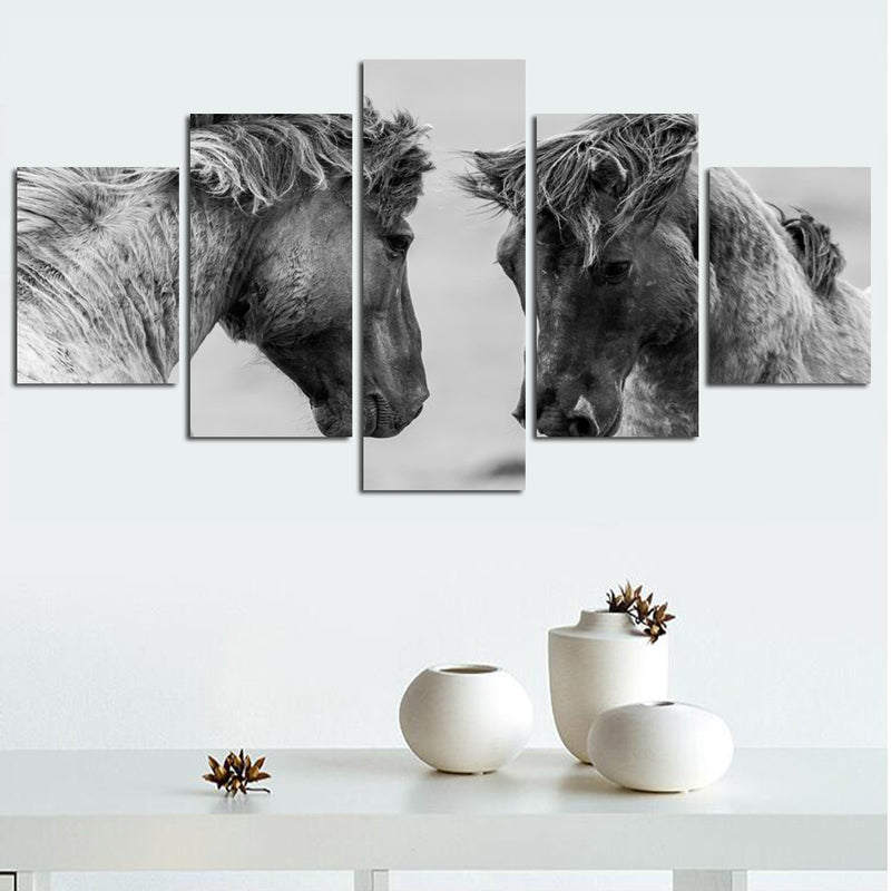 Black and white fine horse animal prints on canvas Canvas Art - Home Wall Deco