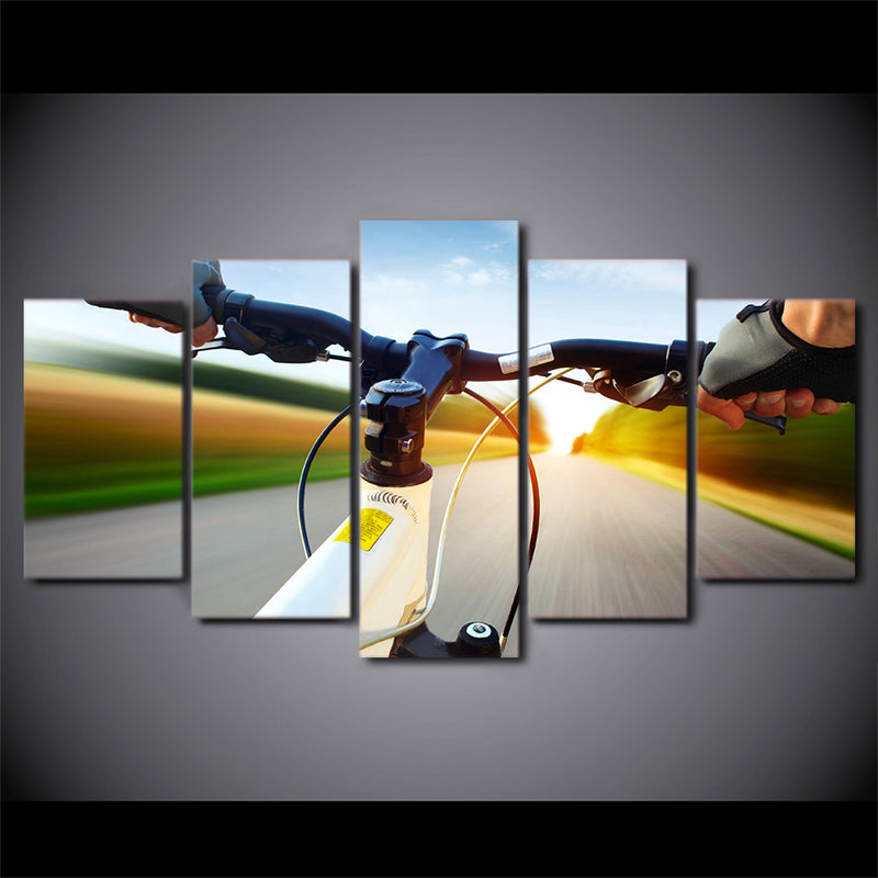 Riding moment Wall Art Canvas Pictures Canvas Art - Home Wall Deco
