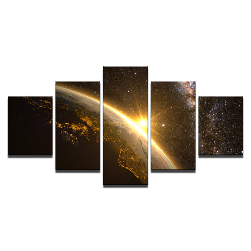 Planet Earth Universe Space Light - Home Wall Deco