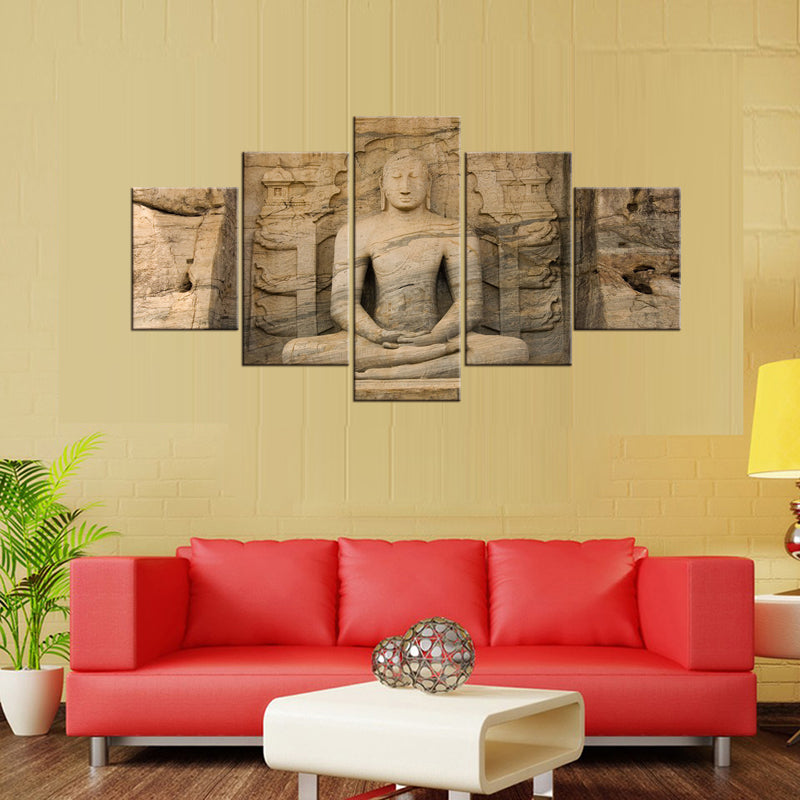 5 Pieces Buddha Canvas ArtWork - Home Wall Deco