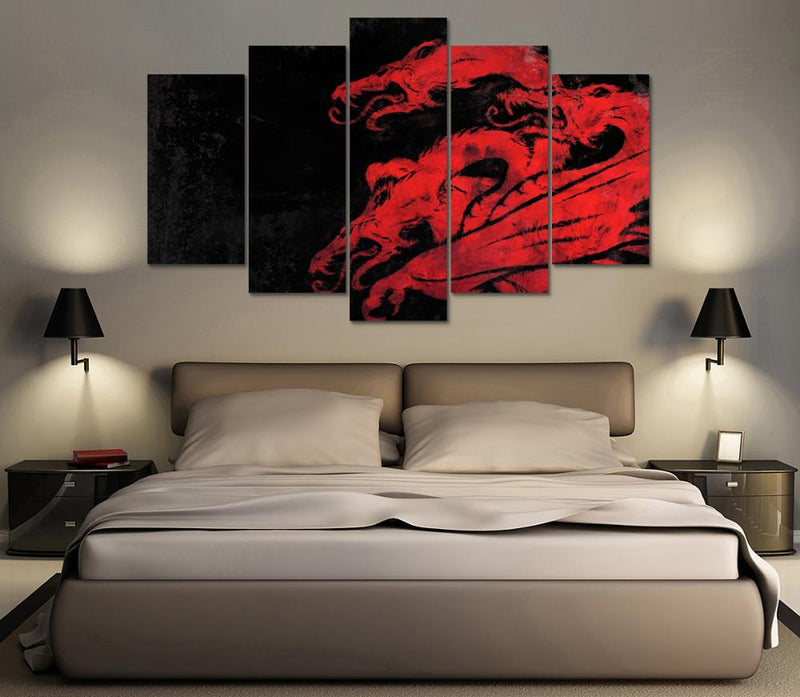 Fire and blood canvas wall art Canvas Art - Home Wall Deco