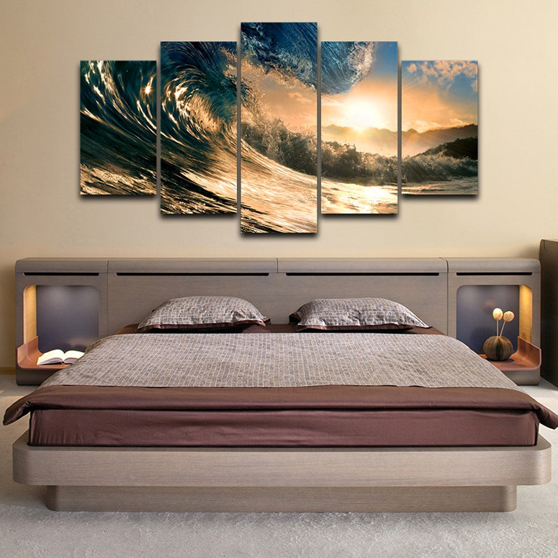 wall art on Canvas Home Decor Waves Canvas Art - Home Wall Deco