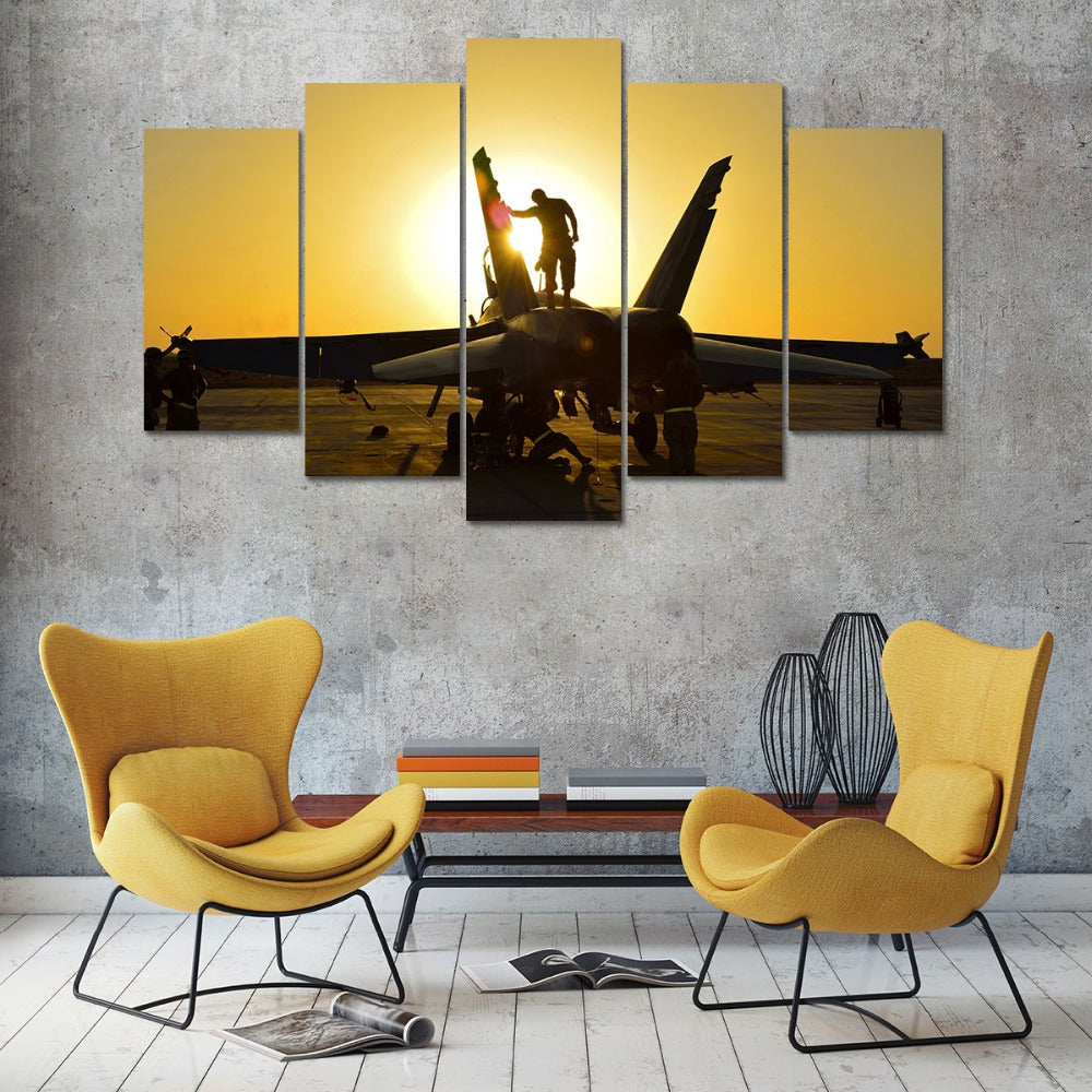 Aircraft Soldiers canvas wall art Canvas Art - Home Wall Deco