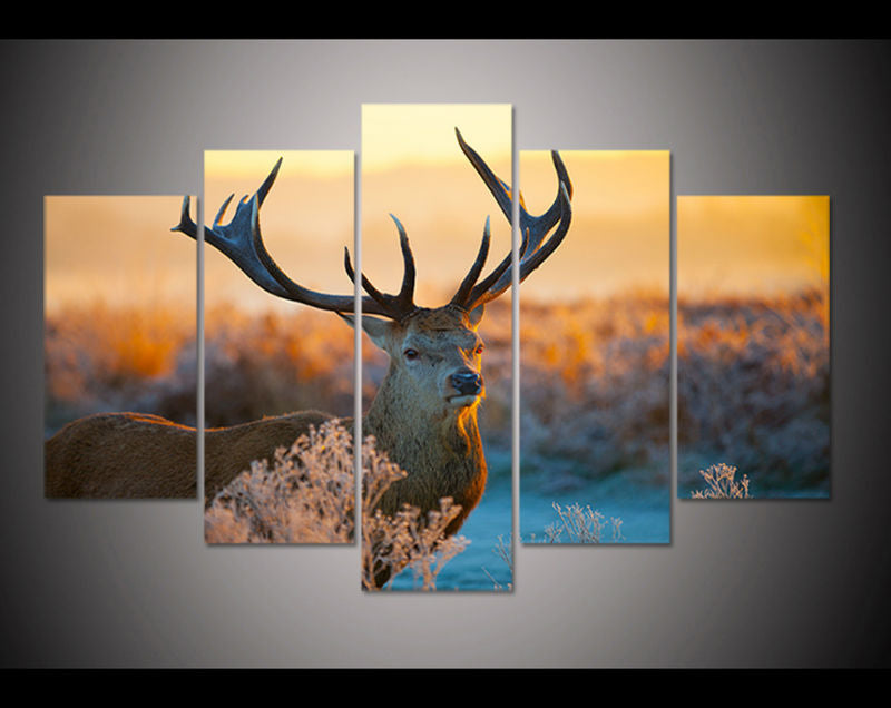 deer animal wall art on Canvas for living room kids wall decor Canvas Art - Home Wall Deco