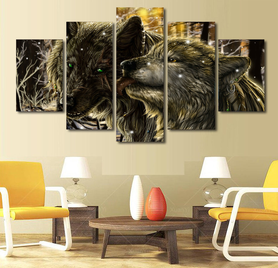 Animals wolf Canvas Wall art - Home Wall Deco