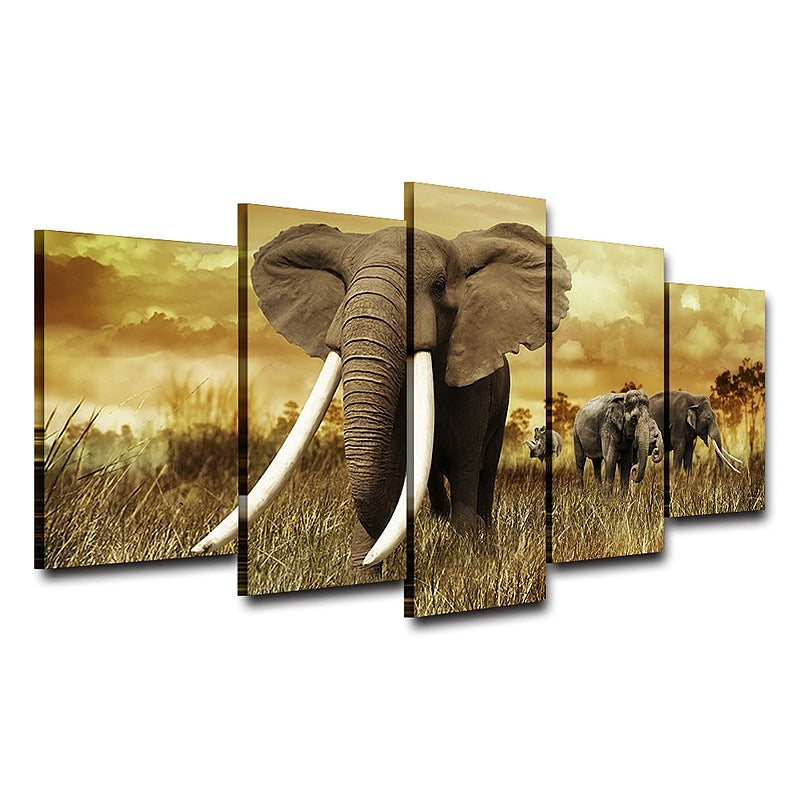 Canvas Wall Art Elephants Canvas Art - Home Wall Deco