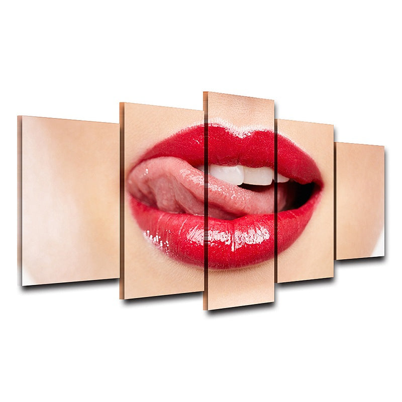 Home art room wall decor on Canvas Red Lips Bedroom Canvas Art - Home Wall Deco