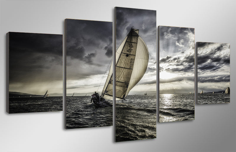 Sea sailing clouds Canvas Art room decor - Home Wall Deco