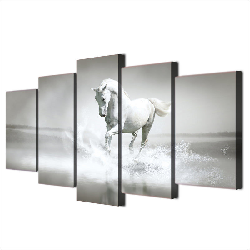 White horse Canvas Art For room decor - Home Wall Deco