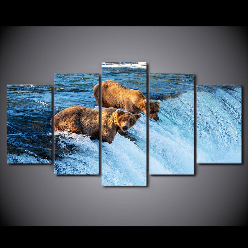 Bear River Canvas Artwork living room decor wall - Home Wall Deco