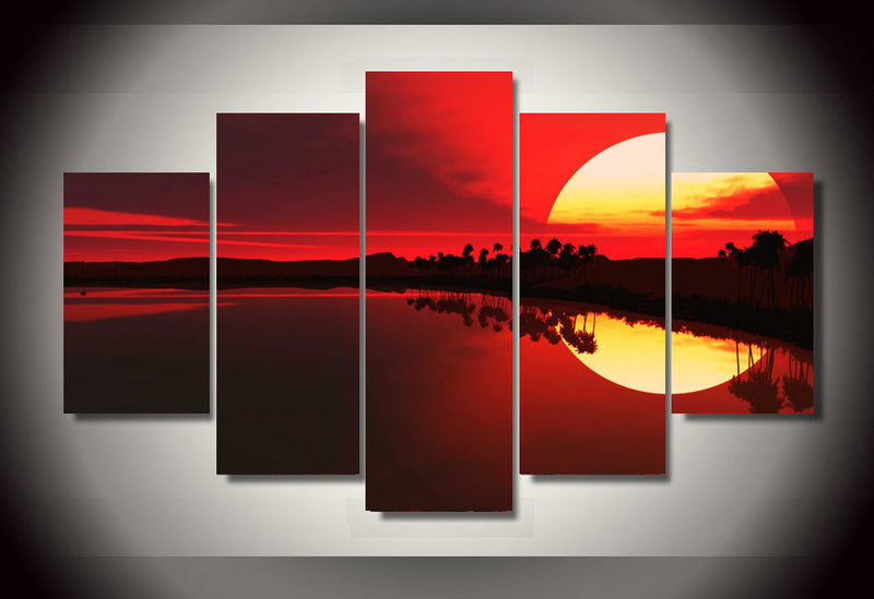 sunset sea Wall Art Picture on Canvas Canvas Art - Home Wall Deco
