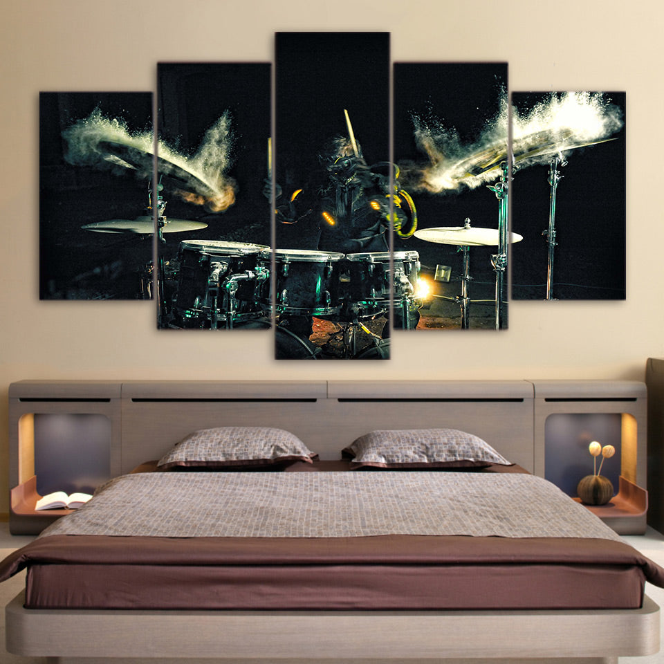 canvas art drums beating music wall Art for living room Canvas Art - Home Wall Deco