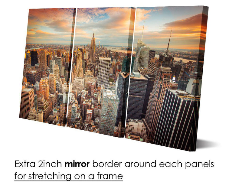 3 Piece New York city picture canvas - Home Wall Deco