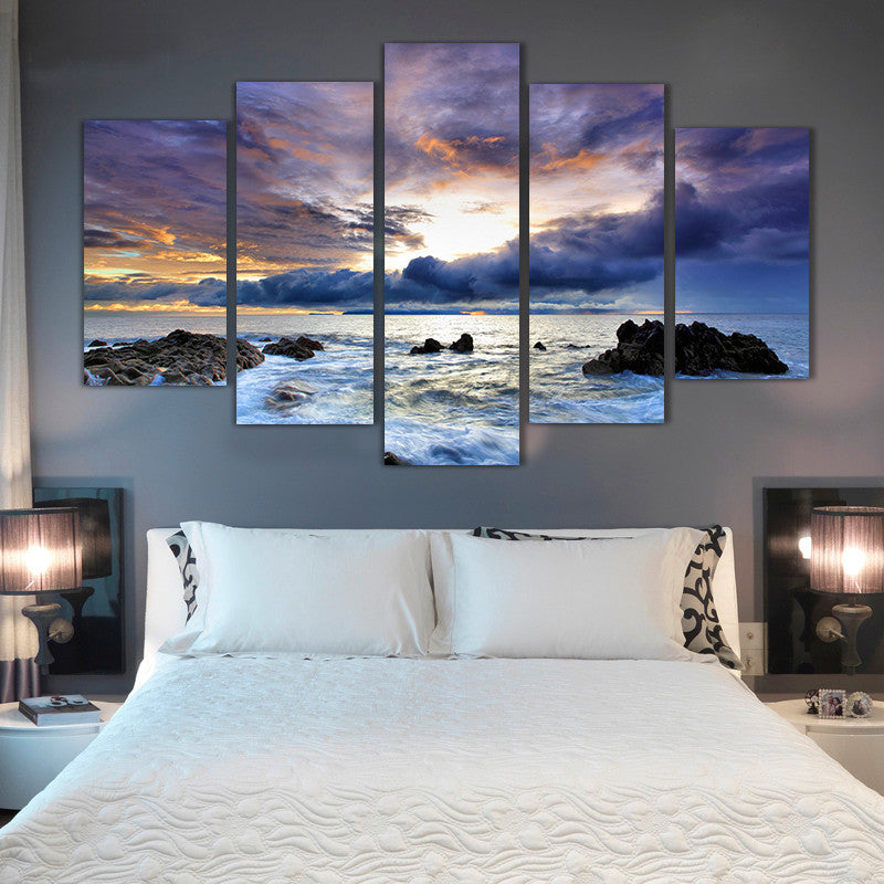 5 Piece Ocean seascape Canvas - Home Wall Deco