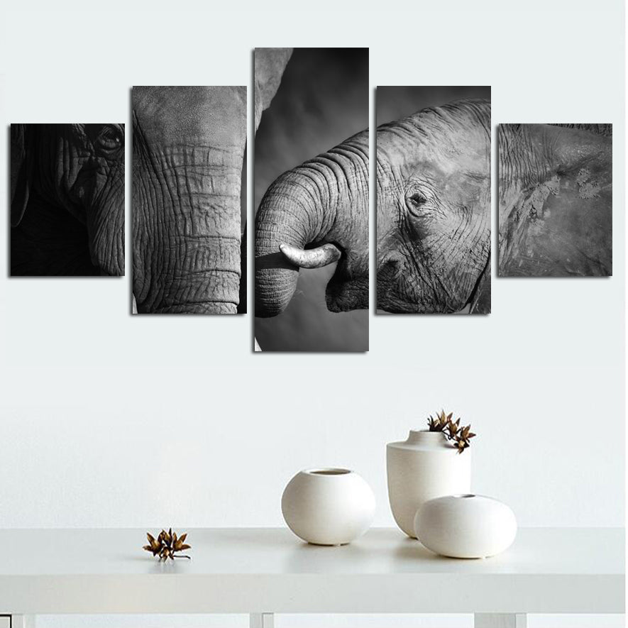 Prints Elephant Picture Artwork Canvas Art - Home Wall Deco