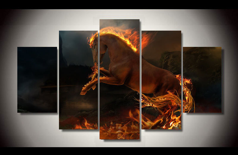 horse wall art picture on canvas Canvas Art - Home Wall Deco