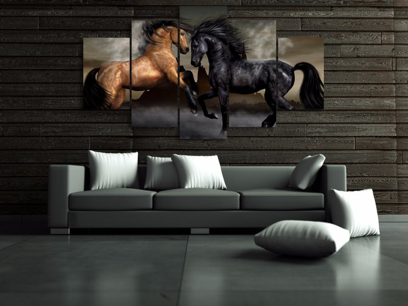 5 Piece love horses Canvas - Home Wall Deco