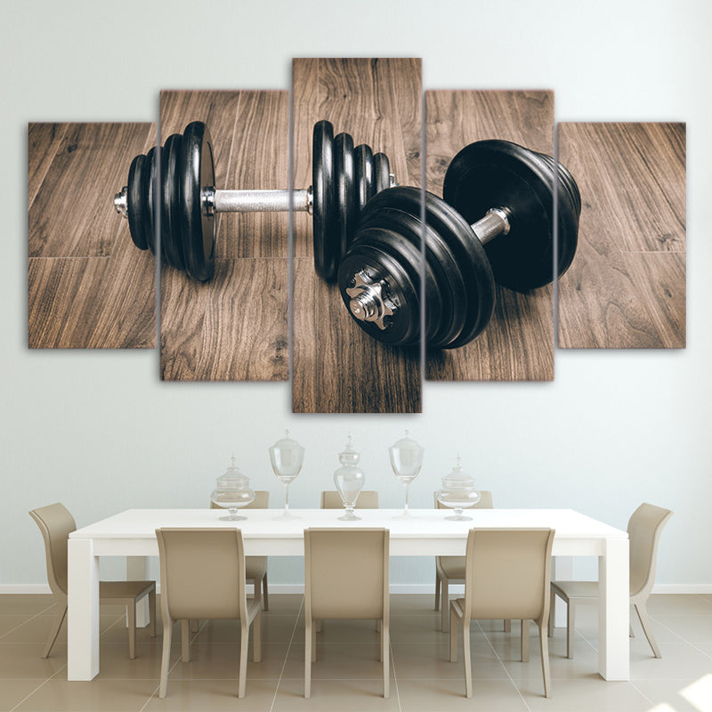 Canvas Art Fitness Gym Sports Dumbbells Wall Pictures for Living Room - Home Wall Deco