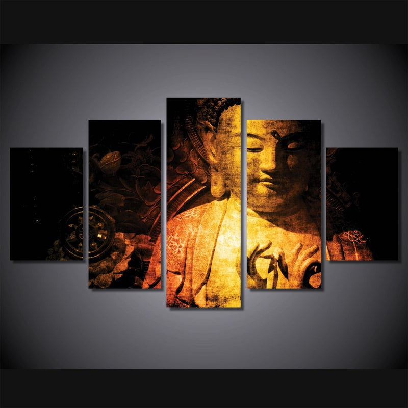 golden buddha Home Decor wall art picture Canvas Art - Home Wall Deco