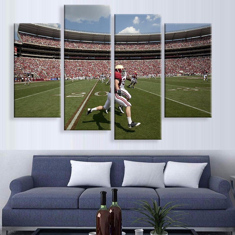 American Football Canvas 4 Piece Wall Art - Home Wall Deco