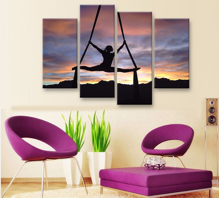 Aerialist Canvas 4 Piece Wall Art - Home Wall Deco