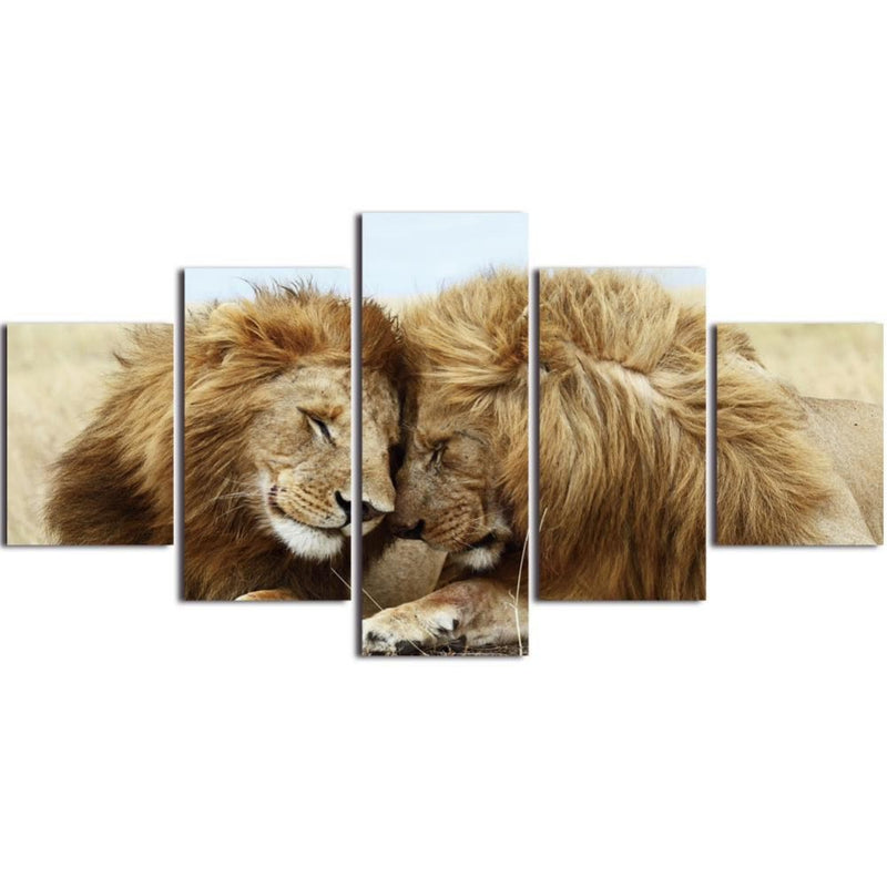Lion Couple Canvas Home Decoration Wall Art Canvas Art - Home Wall Deco