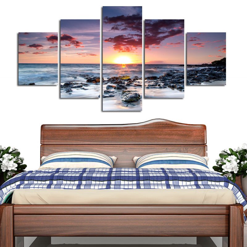 5 Piece Beach Sunset - Home Wall Deco