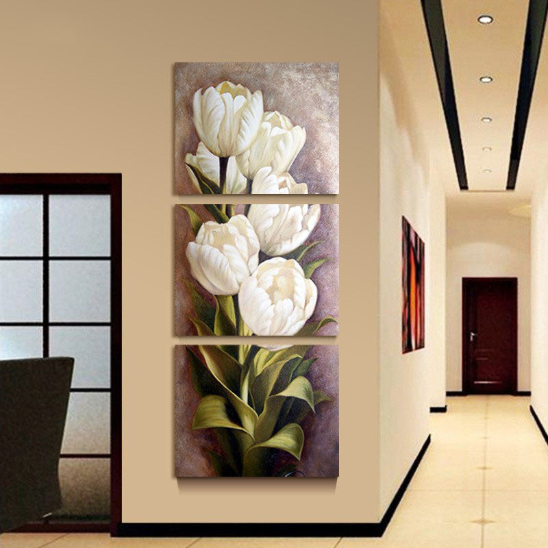 3 Piece Flower Canvas - Home Wall Deco