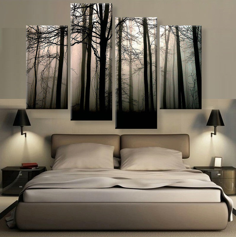 Dark Valley Canvas 4 Piece Wall Art - Home Wall Deco