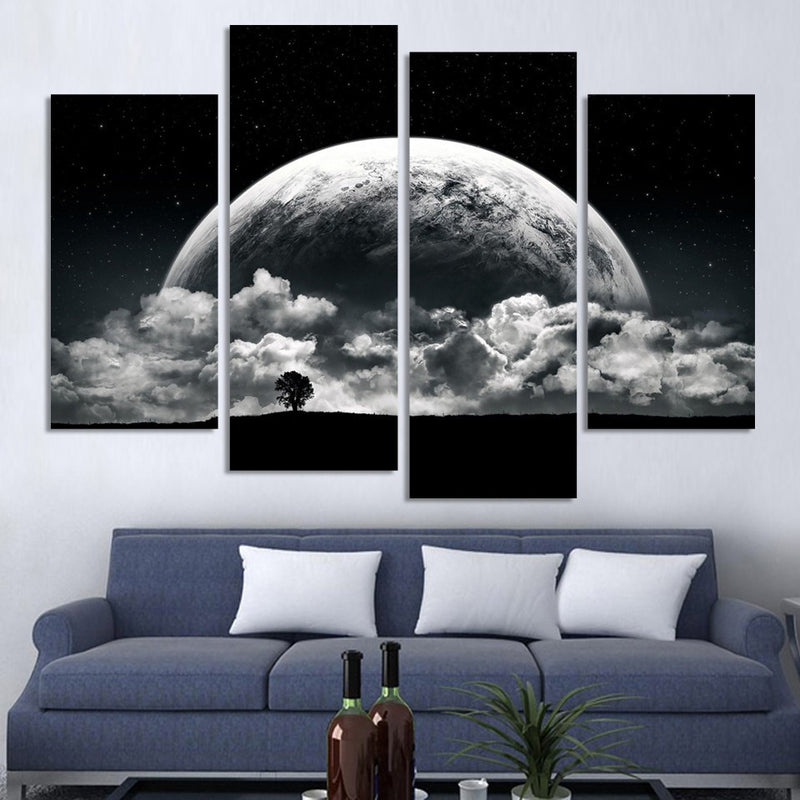 The Universe 4 Pcs Wall Art Canvas - Home Wall Deco