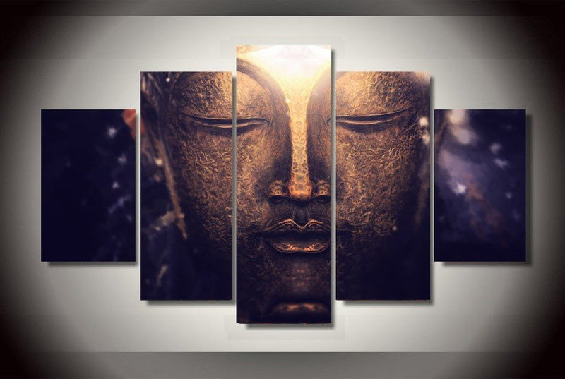 5 Piece Universal Buddha Canvas - Home Wall Deco