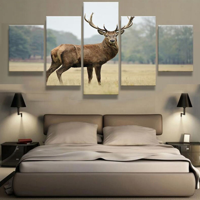 5 Piece ELK CANVAS - Home Wall Deco