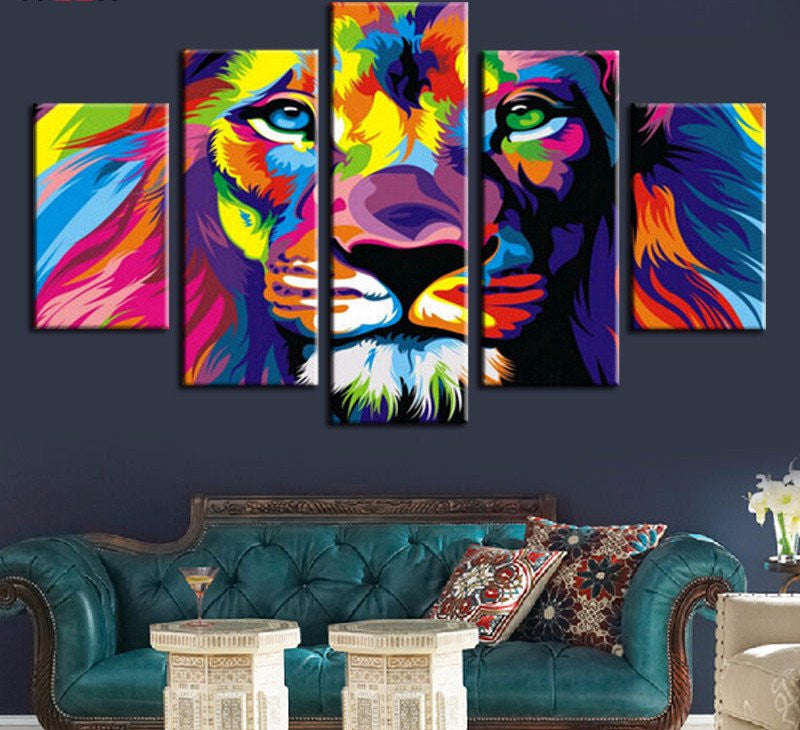5 Piece  lion king Canvas - Home Wall Deco