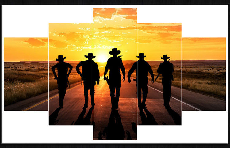 5 Piece soldiers before sunrise Canvas - Home Wall Deco
