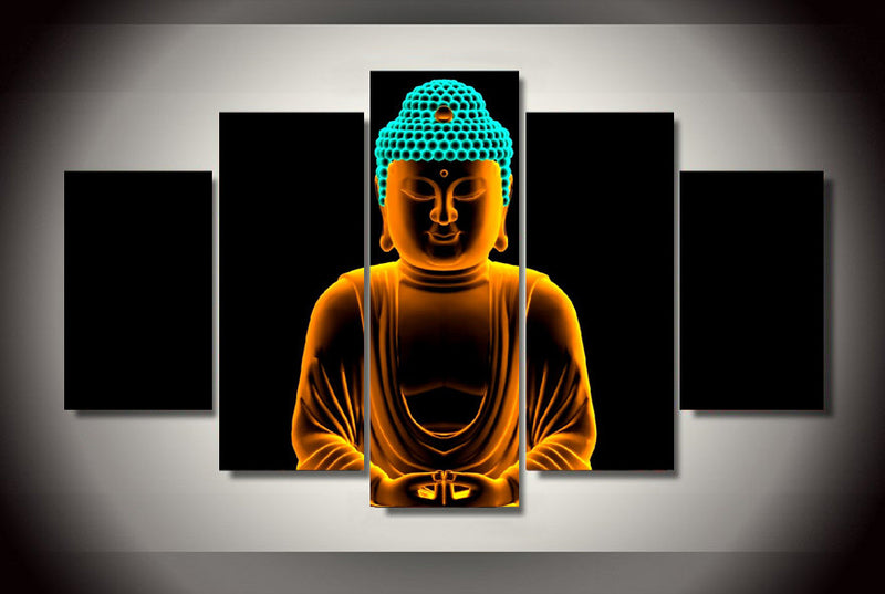 5 Piece Buddha Creative Canvas - Home Wall Deco