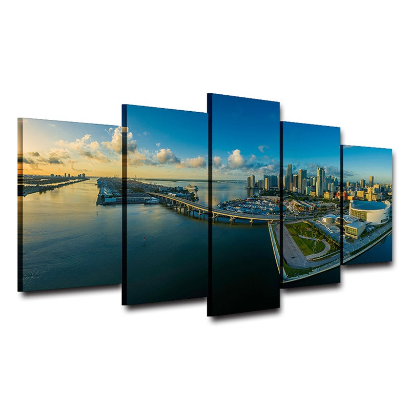 Canvas wall art picture Home Decor Miami Canvas Art - Home Wall Deco