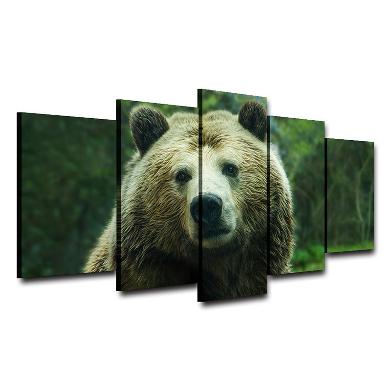 Cavnas wall art Home Decor Bear Head Canvas Art - Home Wall Deco