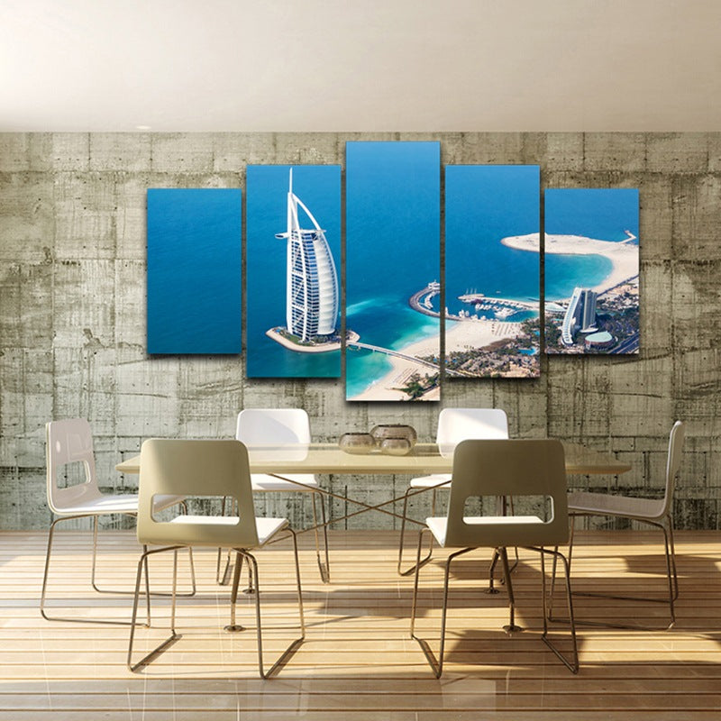 the Flight of the Falconr Dubai Bulding On Canvas Canvas Art - Home Wall Deco