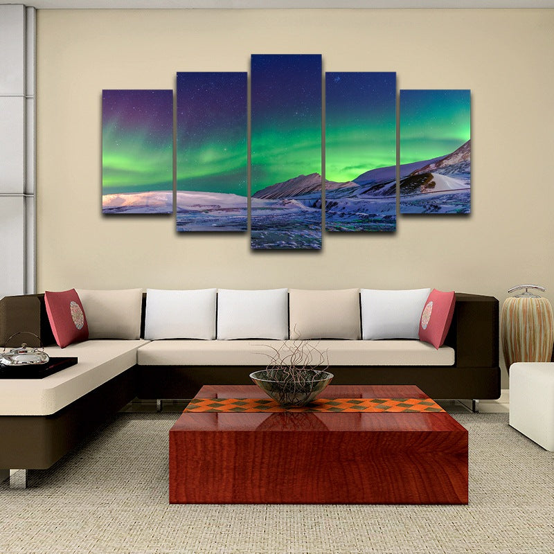 Aurora wall art up pictures Canvas Art - Home Wall Deco