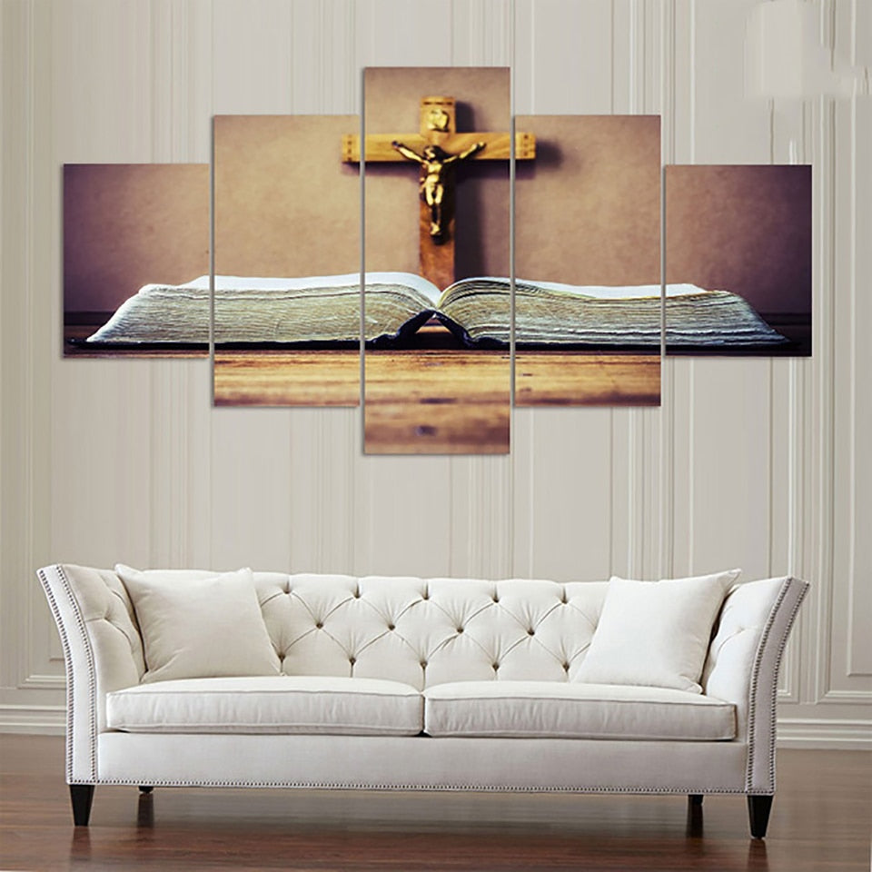 5 Pieces Crucifix Of Jesus Christ HD Home Decor - Home Wall Deco