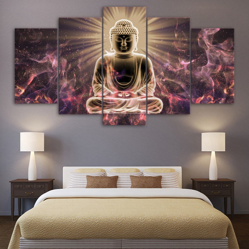 5 Pieces Buddha Painting - Home Wall Deco