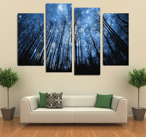 Dream Valley Canvas Wall Art 4 Piece - Home Wall Deco