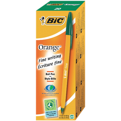 BiC Cristal Fine Ball Pen Orange Green