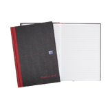 Oxford Black Red A5 Casebound Hardback Notebook