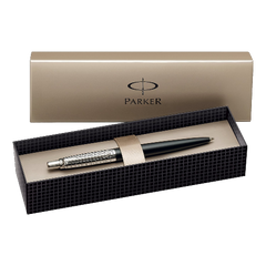 Parker Jotter Red Chrome Trim Ball Pen Gift Boxed