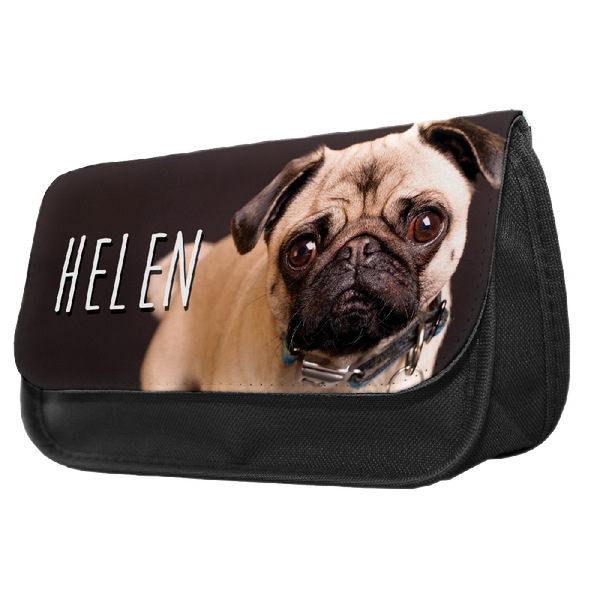 Personalised Golden Retriever Pup Pencil Make Up Case