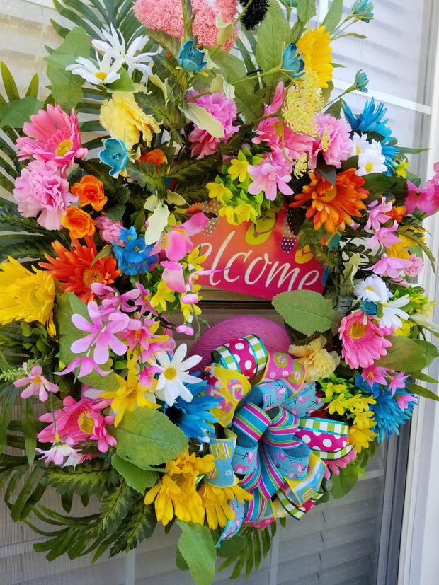 Tropical Paradise Wreath 1 - Magnolia's-Delights