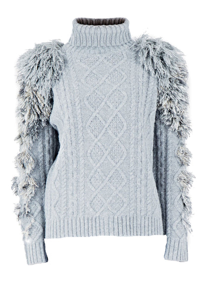 A2 Grey Eagle knitted jumper
